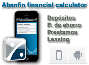 App Abanfin financial calculator para Android e iOs